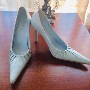 Aldo Pastel Blue Stiletto Leather Heels NWOB 6/36